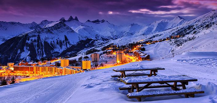 Vinterns bästa skid-destinationer