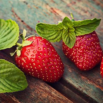 Jordgubbar ingår i raw food